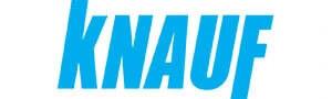 Partners des Bauunternehmens Kubau GmbH ist die Marke Knauf. Auf der Seite hier mit einem Logo vertretten