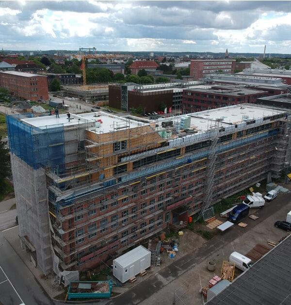 Einsteineins Gebäude im Kieler Wissenschaftpark mit von der Kubau GmbH umgebaut